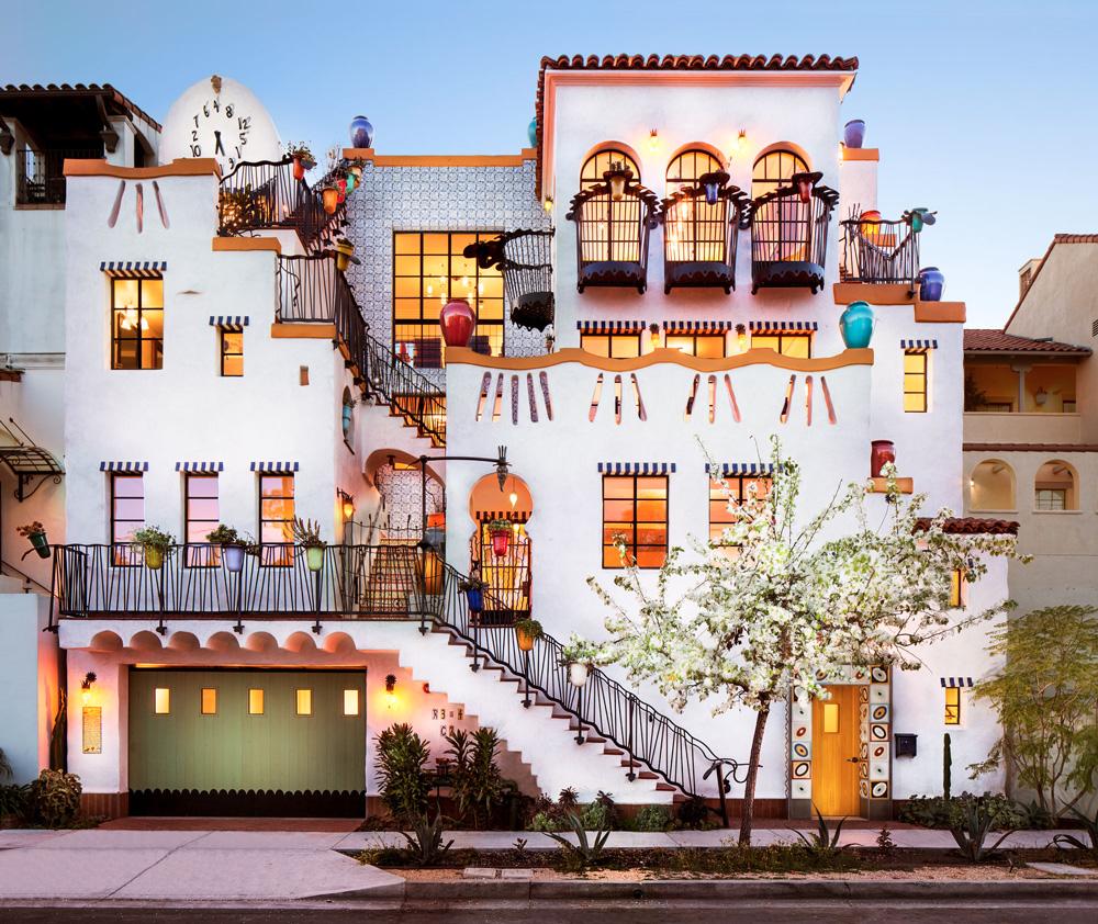 Jeff Shelton architetto, Facciata residenza El Jardin