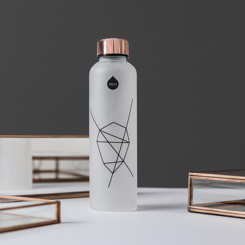 EQUA Glass Bottles, Mismatch Black - Silk Edition