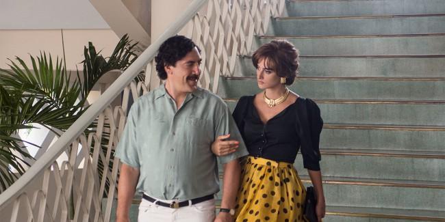 Loving Pablo (2017), film di Fernando León de Aranoa. Javier Bardem e Penelope Cruz in una scena del film