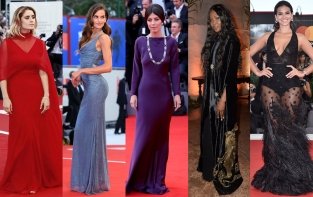 Alberta Ferretti. Red carpet, Mostra del Cinema di Venezia 2017