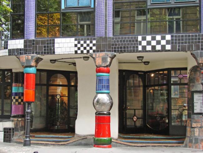 Ingresso del Museo Hundertwasser