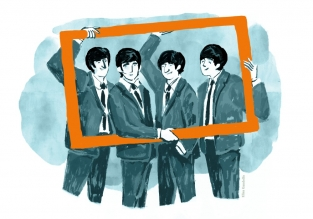 The Beatles, illustrazione © Elisa Gandolfo