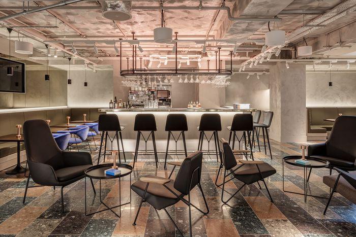 Bar Wallpaper* + Bar Kitchen (London, UK) Virgile + Partners