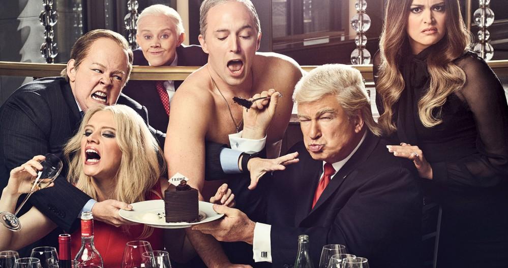 Saturday Night Live, programma TV. Il presidente degli Stati Uniti d'America Donald Trump, interpretato da Alec Baldwin, e il Presidente della Federazione Russa Vladimir Putin