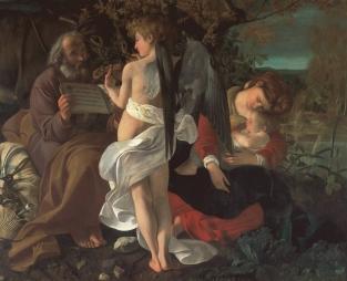 Michelangelo Merisi da Caravaggio, Riposo durante la fuga in Egitto (1597)