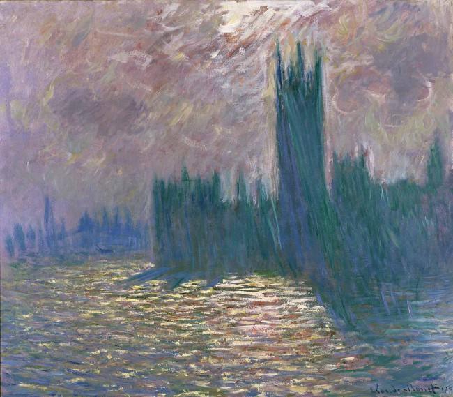 Claude Monet, Londres. Le Parlement. Reflets sur la Tamise