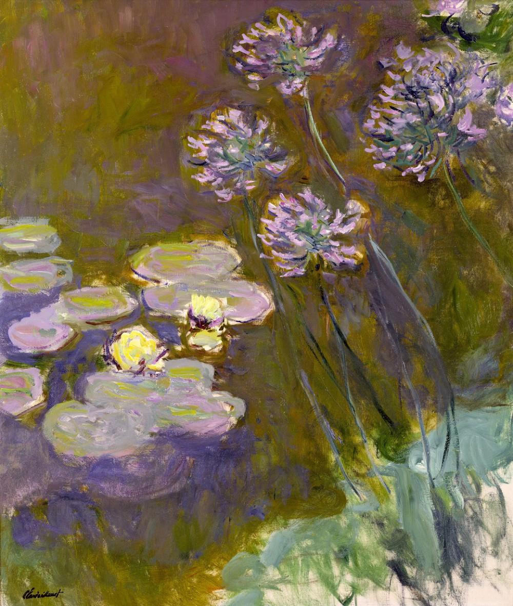 Claude Monet, Ninfee e agapanti