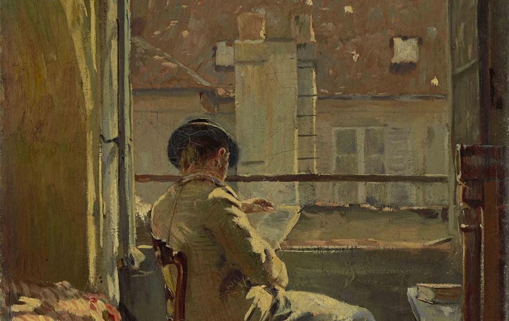 Cuno Amiet, Giovanni Giacometti legge alla finestra - Parigi (Giovanni Giacometti am Fenster lesend – Paris)