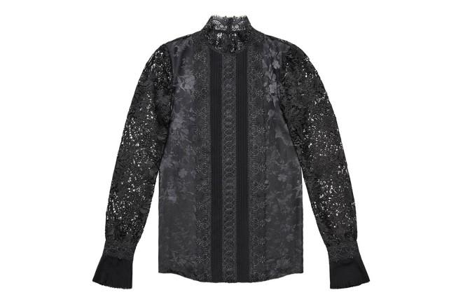 Collezione Erdem X H&M. Camicia in pizzo nero