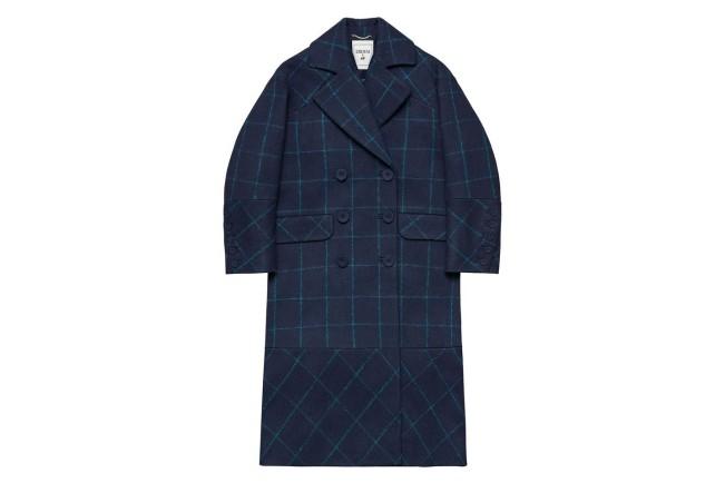 Collezione Erdem X H&M. Cappotto blu