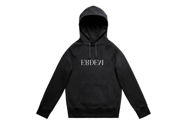 Collezione Erdem X H&M. Felpa nera con logo Erdem