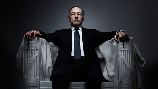 House of Cards, serie TV. Kevin Spacey interpreta Frank Underwood
