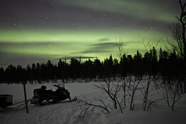 Oguzhan Erim, Kiruna. Aurora boreale in Svezia, una tenda nella neve
