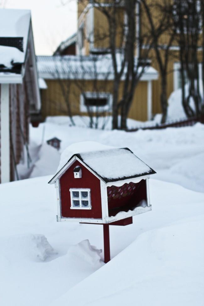 Oguzhan Erim, Kiruna. Una delle lettere a forma di casa nella neve in Svezia