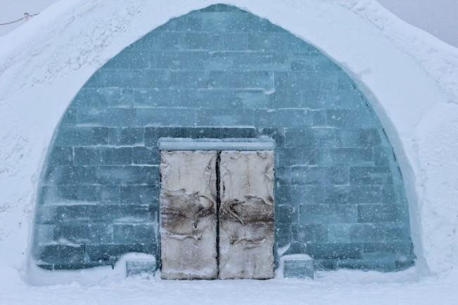 Oguzhan Erim, Kiruna. Esterno dell'ICEHOTEL di Jukkasjärvi