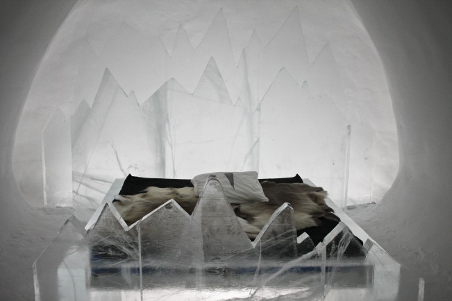 Oguzhan Erim, Kiruna. Un letto dell'ICEHOTEL di Jukkasjärvi
