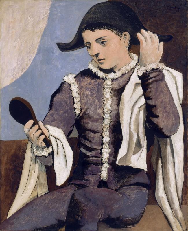 Pablo Picasso, Arlequin au miroir