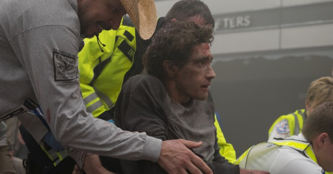 Stronger, film di David Gordon Green. Jake Gyllenhaal in una scena del film. Foto: Roadside Attractions