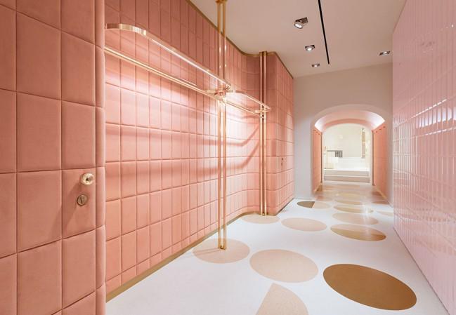 La boutique RED Valentino by India Mahdavi, Maria Grazia Chiuri e Pierpaolo Piccioli, Roma. Millennial Pink, non solo un colore ma un atteggiamento
