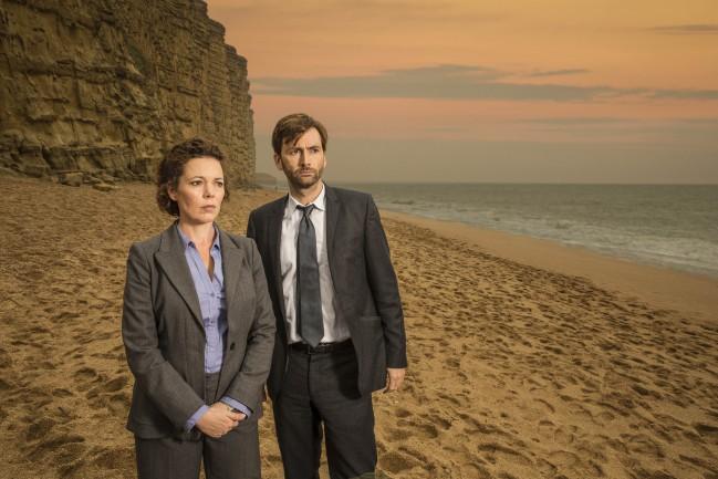 Broadchurch, serie TV crime da vedere su Netflix. David Tennant e Olivia Colman interpretano Alec Hardy e Ellie Miller. Copyright: ITV