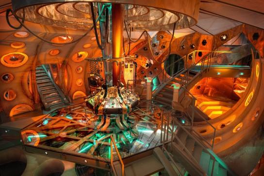 Doctor Who, serie TV. Interno TARDIS. Foto: BBC