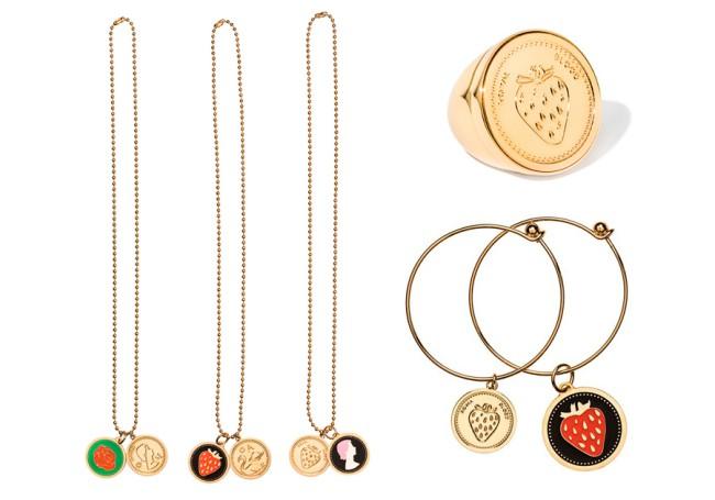 PEECH, collane e anello con fragola e rosa. PEECH è un brand di gioielli Made in Italy, ideato e disegnato da Amedeo Piccione. I suoi gioielli hanno dettagli unici e un design elegante.