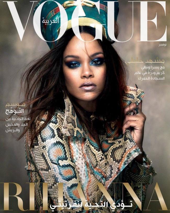 Rihanna sulla copertina di Vogue Arabia nei panni della regina Nefertiti