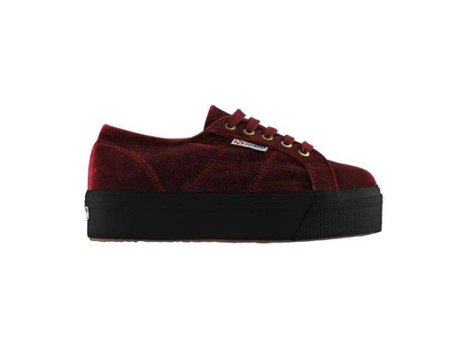 Superga sneakers in velluto bordeaux