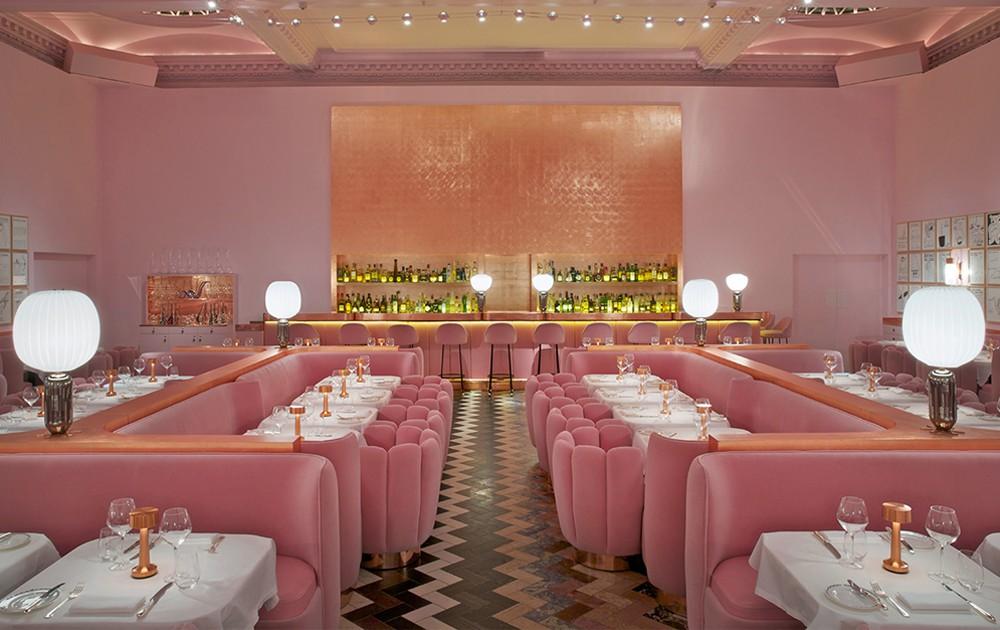 Il ristorante Sketch by India Mahdavi per David Shrigley, Londra. Millennial Pink, non solo un colore ma un atteggiamento