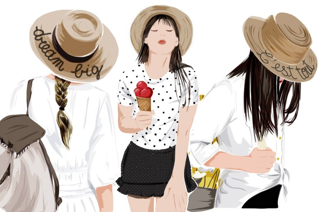 alisa_maw, Positive Hat. Illustrazione fashion e graphic designer