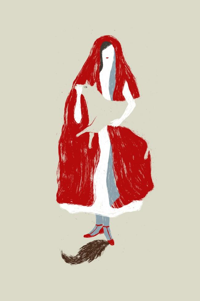 Elisa Talentino, La rivincita di Cappuccetto Rosso, illustrazione
