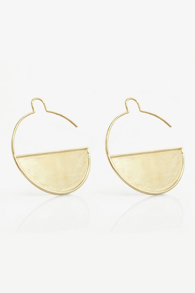 Orecchini stampa 3D Manoa's Jewelry by Jessica Hunnicutt. Questi gioielli, perfetti per un regalo, sono in ottone lucido placcato oro