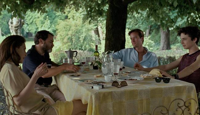 Chiamami col tuo nome, film di Luca Guadagnino. Timothée Chalamet (Elio) e Armie Hammer (Oliver) in una scena del film