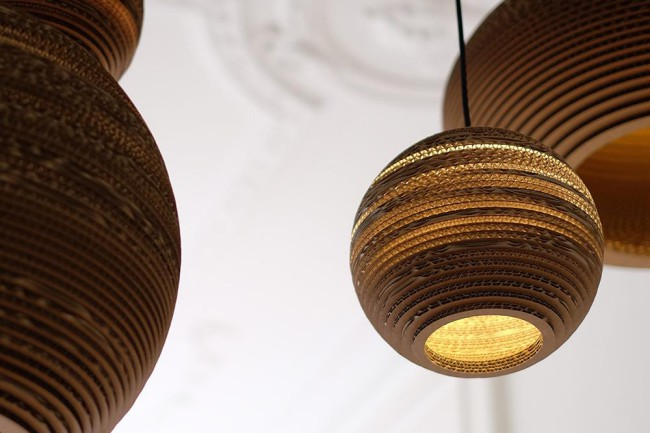 Lampade Scraplight by Graypants. Lampade sospese handmade in cartone riciclato ecosostenibile