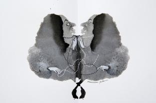 Marianna Balducci, Gilda e Vampussa dal progetto Personal Rorschach Test presentato alla Biennale del Disegno 2016 (Rimini, Museo della città)