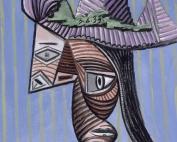 Pablo Picasso, Buste de femme au chapeau rayé, 1939. La mostra a Palazzo Ducale di Genova