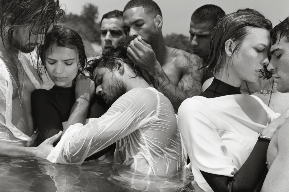 Emily Ratajkowski & Karlie Kloss by Bruce Weber. CR Fashion Book Fall 2013