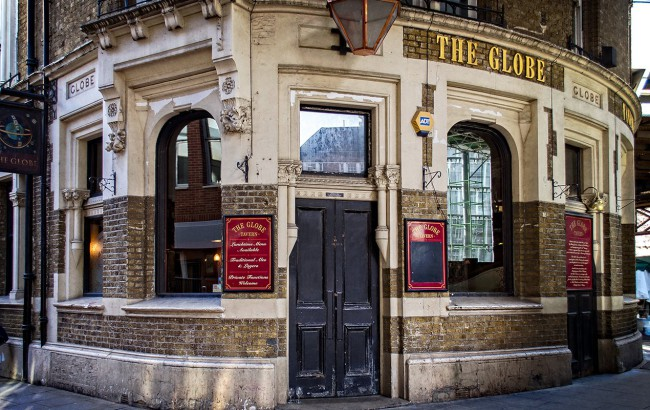Il pub The Globe Tavern in Il diario di Bridget Jones, film ambientato a Londra con Renée Zellweger, Colin Firth e Hugh Grant