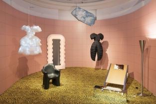 """""""Italiana: L'Italia vista dalla moda 1971-2001"""" è la mostra a Palazzo Reale di Milano. Fashion week MFW. Sala Diorama. Foto: F. de Luca"""