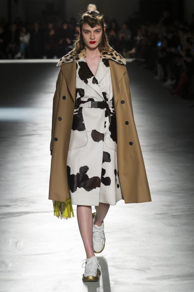N°21 Autunno Inverno 18-19 Milano Fashion Week, tendenze moda donna: l'animalier. Foto: imaxtree