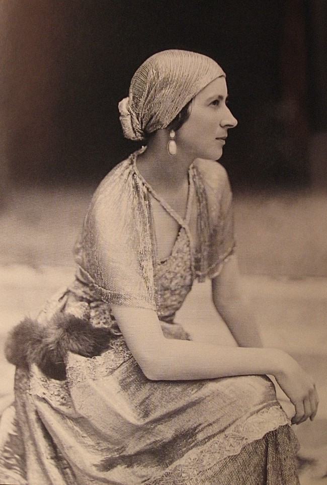 Denise Boulet, dress by Paul Poiret