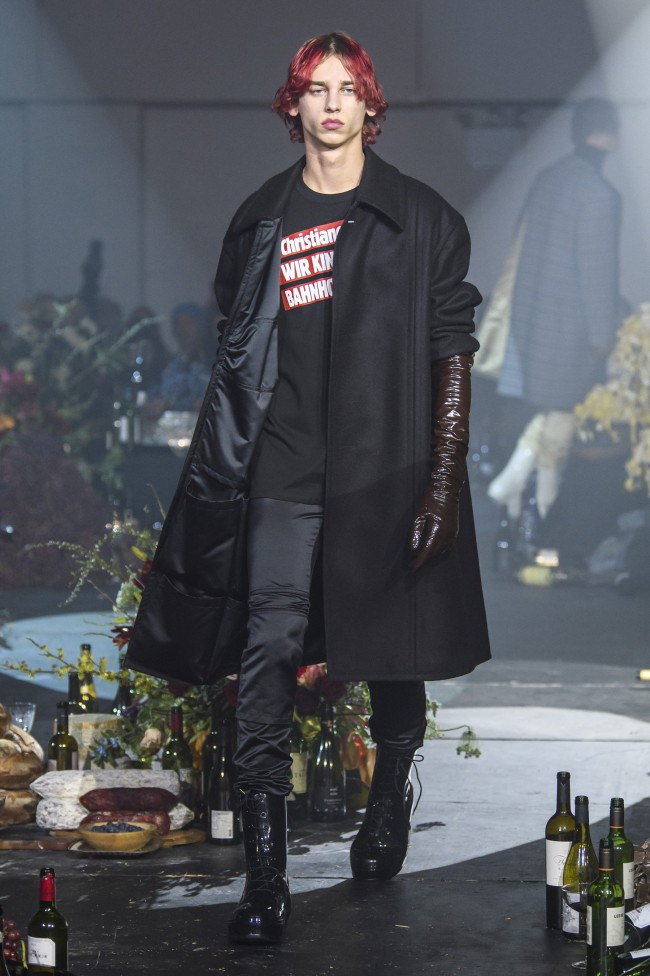 Raf Simons Fall Winter 2018 moda uomo New York Fashion Week