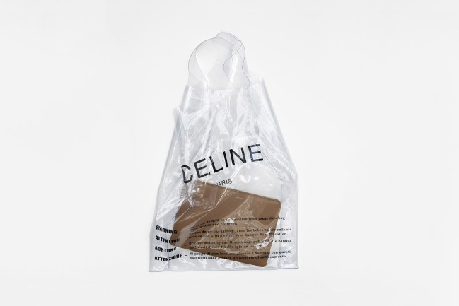 Céline Phobe Philo plastic shopping bag