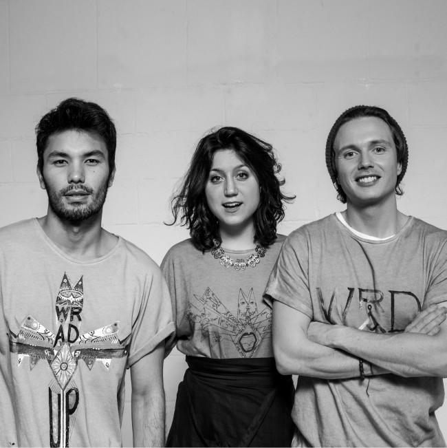 I co-fondatori del brand di moda innovativo ed eco sostenibile WRÅD: Victor Santiago, Silvia Giovanardi e Matteo Ward