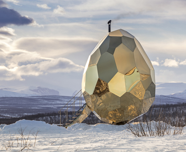 Solar Egg Public Sauna by Futurniture and Bigert & Bergström