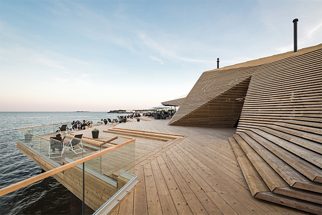 Wooden Architecture and Design - Loyly Public Sauna and Restaurant by Avanto Architects Ltd.