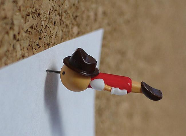 Real Boy Push Pins - Thumb Tacks by Duncan Shotton