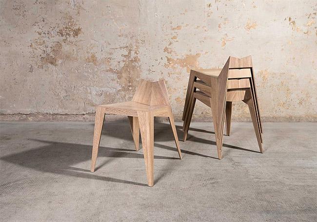 Stocker Chair, Stool - sedie design - by Matthias Scherzinger - Sedie di Design