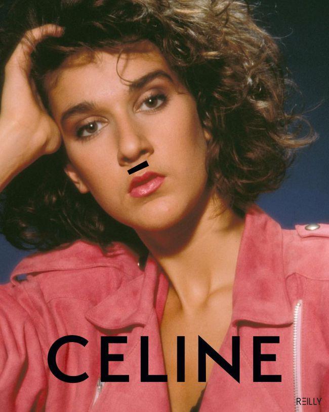 Celine Hedi Slimane Celine Dion baffo accento