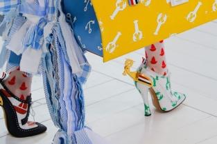 La collezione Spring 2019 di Thom Browne è fatta di barche, stelle marine, granchi e balene; insomma più estate di così non si può. Photo: Luca Tombolini/Indigital.tv